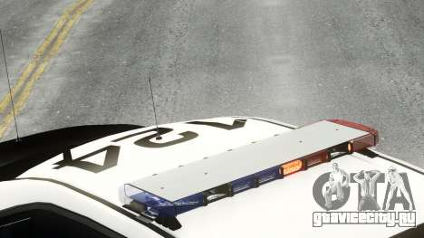 Ford Police Interceptor LCPD 2013 [ELS] для GTA 4 вид сзади слева