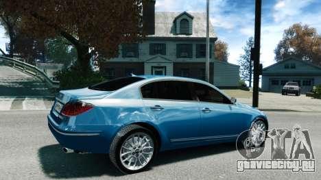Hyundai Genesis V6 Sedan для GTA 4 вид слева