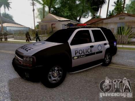 Chevrolet TrailBlazer Police для GTA San Andreas вид сбоку