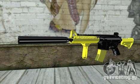 Yellow M4A1 для GTA San Andreas