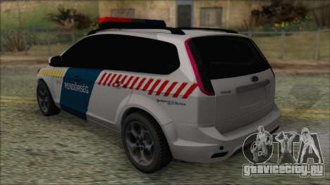 Ford Focus 2008 Station Wagon Hungary Police для GTA San Andreas вид сзади слева