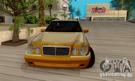 Mercedes-Benz E320 Wagon для GTA San Andreas вид изнутри
