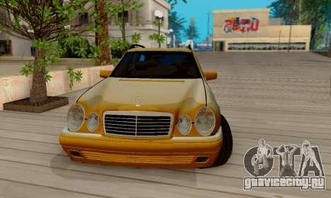 Mercedes-Benz E320 Wagon для GTA San Andreas вид изнутри