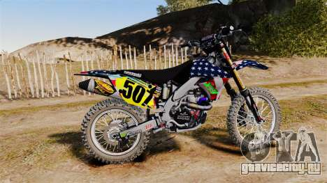 Kawasaki KX250F Monster KX USA для GTA 4 вид слева