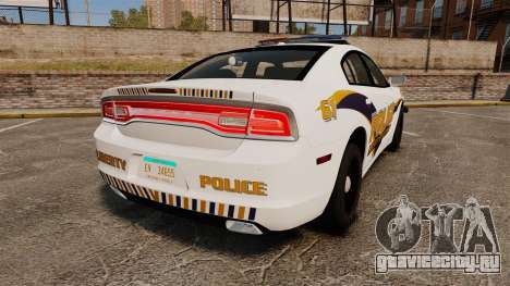 Dodge Charger 2013 Liberty University Police ELS для GTA 4 вид сзади слева