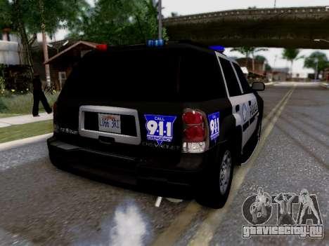 Chevrolet TrailBlazer Police для GTA San Andreas салон