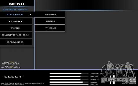 Tuning Mod 0.9 для GTA San Andreas второй скриншот