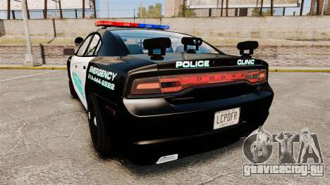 Dodge Charger 2011 Liberty Clinic Police [ELS] для GTA 4 вид сзади слева
