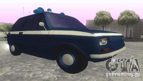 Fiat 126p milicja для GTA San Andreas вид сзади слева