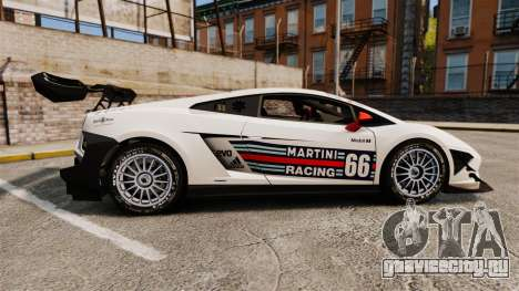 Lamborghini Gallardo LP570-4 Martini Raging для GTA 4 вид слева