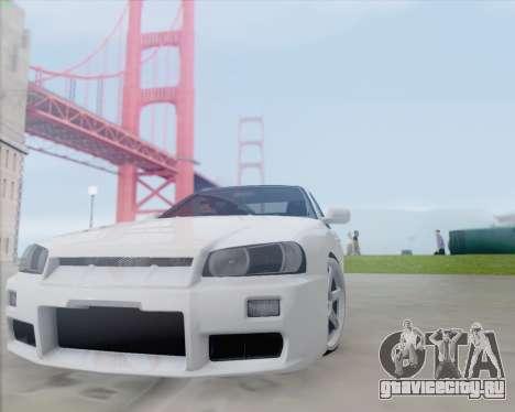Nissan Skyline ER34 для GTA San Andreas вид слева