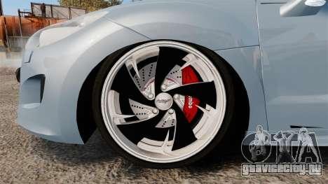 Peugeot RCZ для GTA 4 вид сзади