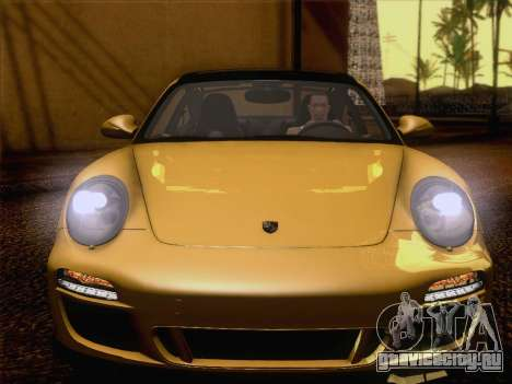 Porsche 911 Targa 4S для GTA San Andreas вид изнутри
