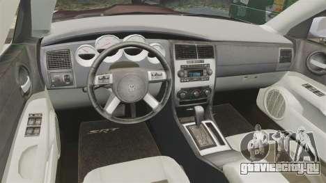 Dodge Charger SRT8 2007 для GTA 4 вид сзади