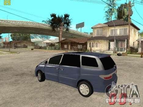 Toyota Estima KZ Edition 4wd для GTA San Andreas вид сзади слева
