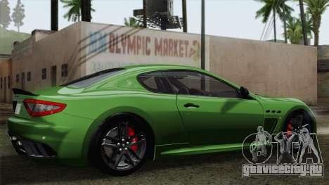 Maserati GranTurismo MC Stradale для GTA San Andreas вид сбоку