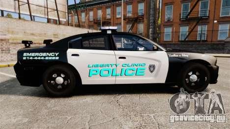 Dodge Charger 2011 Liberty Clinic Police [ELS] для GTA 4 вид слева