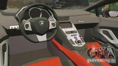 Lamborghini Huracan 2014 для GTA 4 вид изнутри
