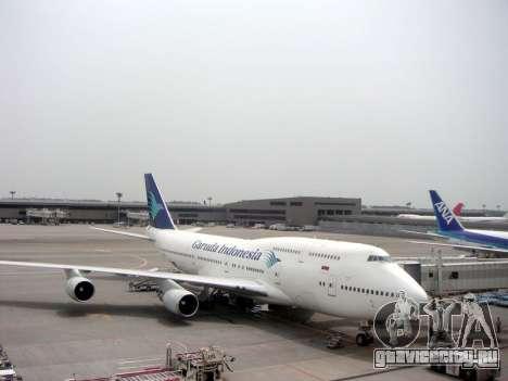 Boeing 747-400 Garuda Indonesia для GTA San Andreas вид сбоку