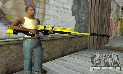 Yellow Sniper Rifle для GTA San Andreas третий скриншот