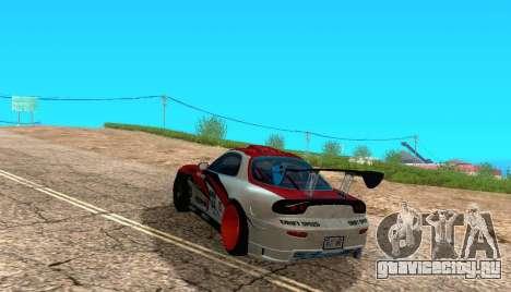 Mazda RX-7 для GTA San Andreas вид слева