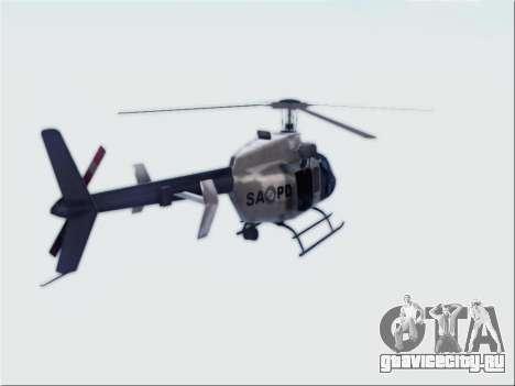 Bell 407 SAPD для GTA San Andreas вид слева