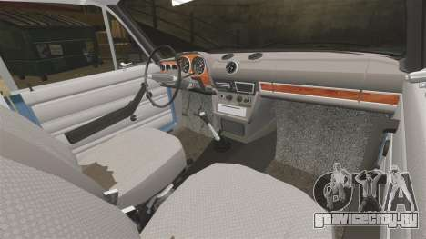 ВАЗ-2106 Жигули БУНКЕР для GTA 4 вид изнутри