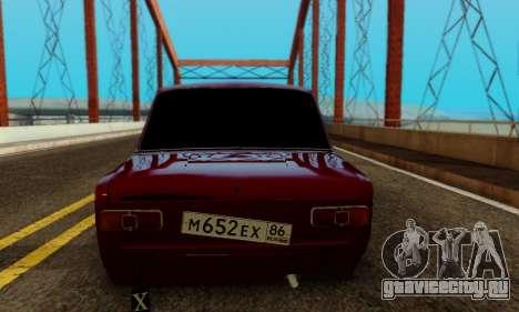 ВАЗ 2101 для GTA San Andreas вид сбоку