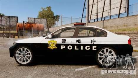 BMW 350i Japanese Police [ELS] для GTA 4 вид слева
