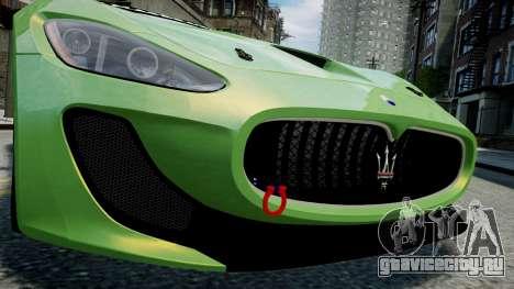 Maserati GranTurismo MC 2009 для GTA 4 вид изнутри