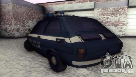 Fiat 126p milicja для GTA San Andreas вид сзади