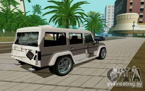 Benefactor DUBSTA для GTA San Andreas вид справа