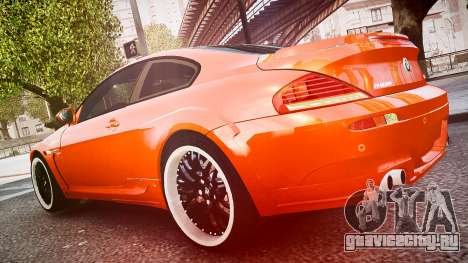 BMW M6 Hamann Widebody v2.0 для GTA 4 вид изнутри