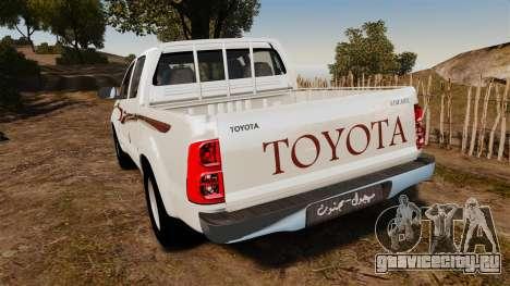 Toyota Hilux 2014 для GTA 4 вид сзади слева