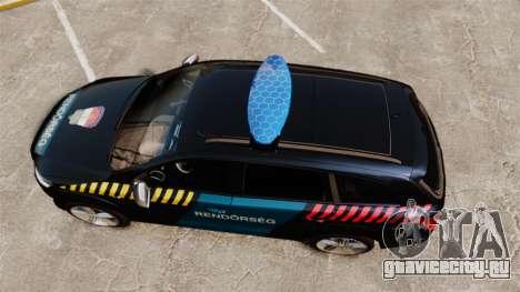 Audi Q7 Hungarian Police [ELS] для GTA 4 вид справа
