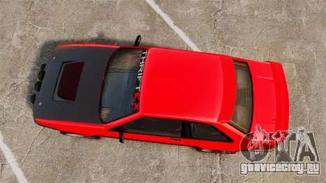 Futo RS для GTA 4 вид справа