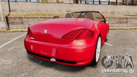 Peugeot 308 CC для GTA 4 вид сзади слева