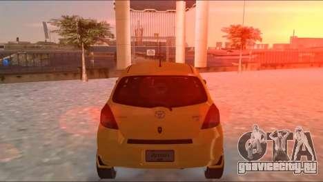 Toyota Yaris для GTA Vice City вид справа