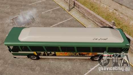 Иранский раскрас автобуса для GTA 4 вид справа