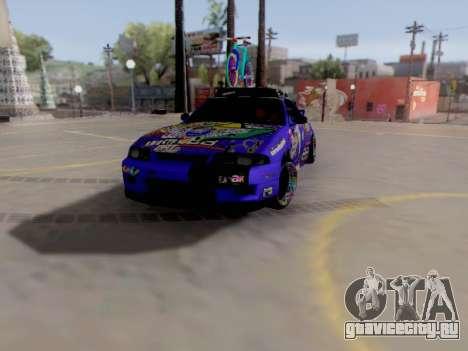 Nissan GT-R R33 HellaFlush V2 для GTA San Andreas