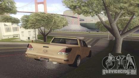Mazda BT-50 Pro для GTA San Andreas вид справа