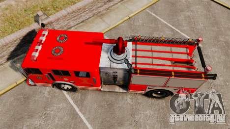 Fire Truck v1.4A LSFD [ELS] для GTA 4 вид справа