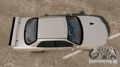 Nissan Skyline ER34 GT-R для GTA 4 вид справа
