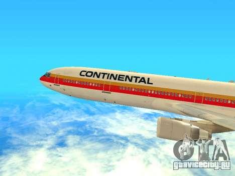 McDonnell Douglas MD-11 Continental Airlines для GTA San Andreas вид сзади слева
