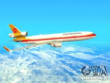 McDonnell Douglas MD-11 Continental Airlines для GTA San Andreas вид слева