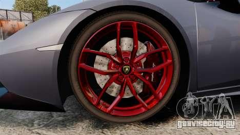 Lamborghini Huracan 2014 для GTA 4 вид сзади