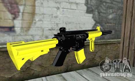 Yellow M4A1 для GTA San Andreas второй скриншот