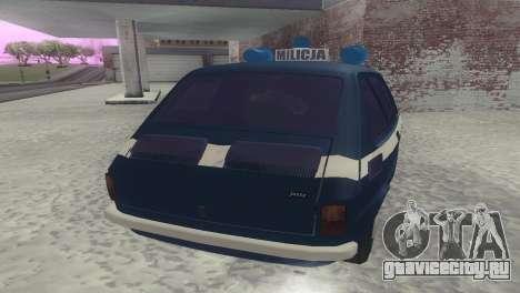 Fiat 126p milicja для GTA San Andreas вид справа