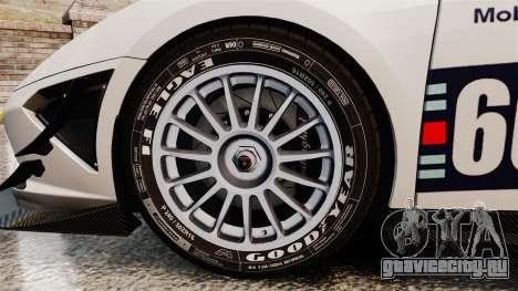 Lamborghini Gallardo LP570-4 Martini Raging для GTA 4 вид сзади