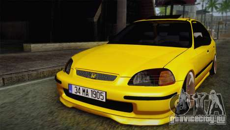 Honda Civic Edit Mehmet ALAN для GTA San Andreas